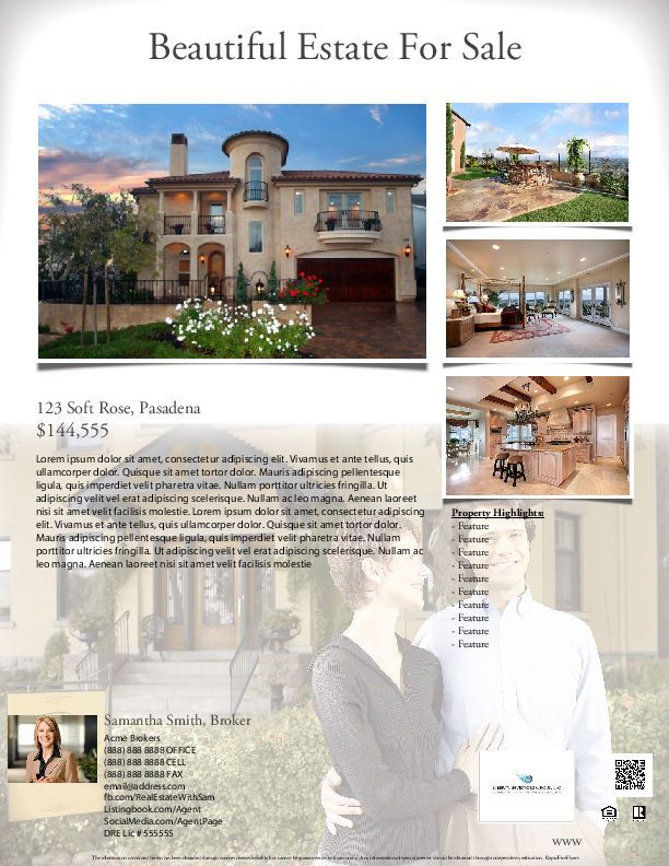 37 best Real Estate Marketing Flyer Templates images on Pinterest - house for sale flyer template