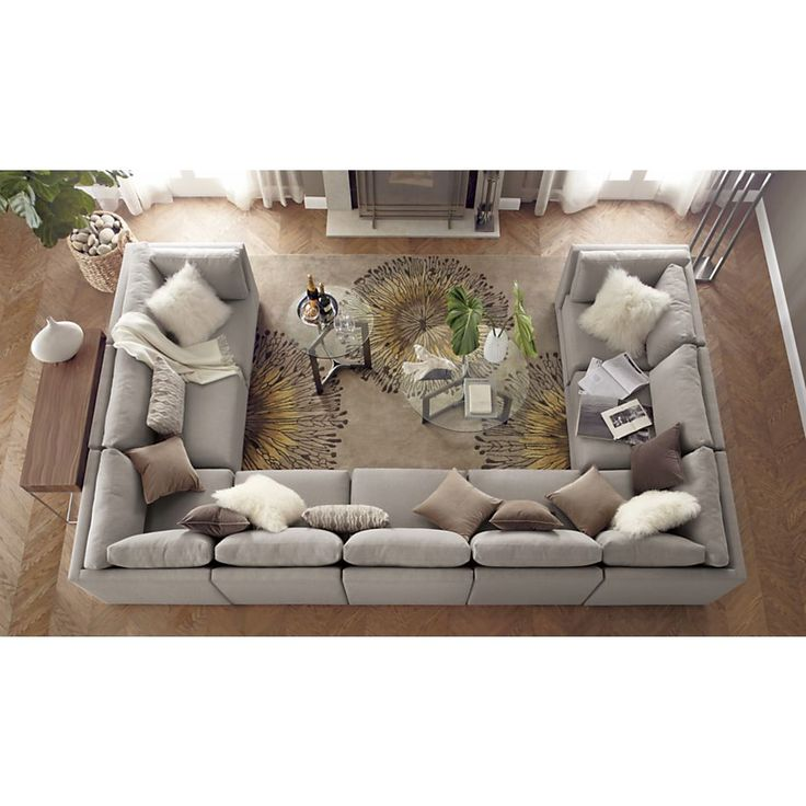 Large U Sectional Sofas: 25+ Best Ideas About Sectional Sofa Layout On Pinterest