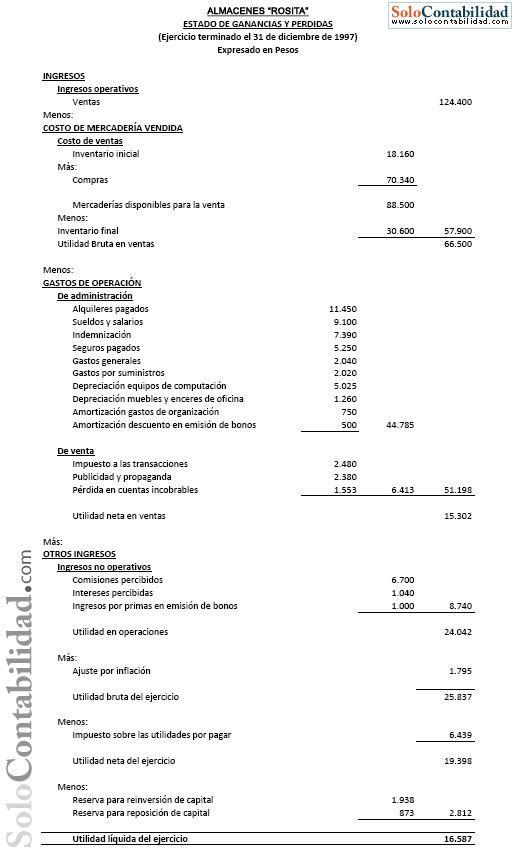Solución Caso practico Estados Financieros (efectivo - devengado) | Contabilidad de Costos, Financiera, Básica y Ejercicios