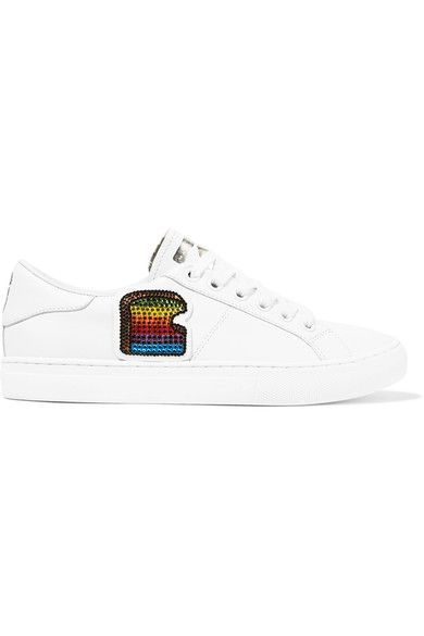 Marc Jacobs - Empire Toast Embellished Leather Sneakers - White - IT