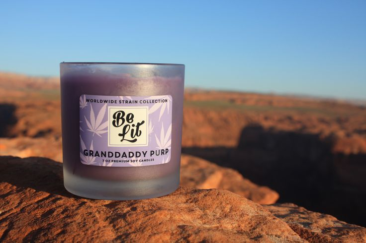 Grand Daddy Purp - A premium soy candle inspired by your favorite cannabis strain | Be Lit Brand