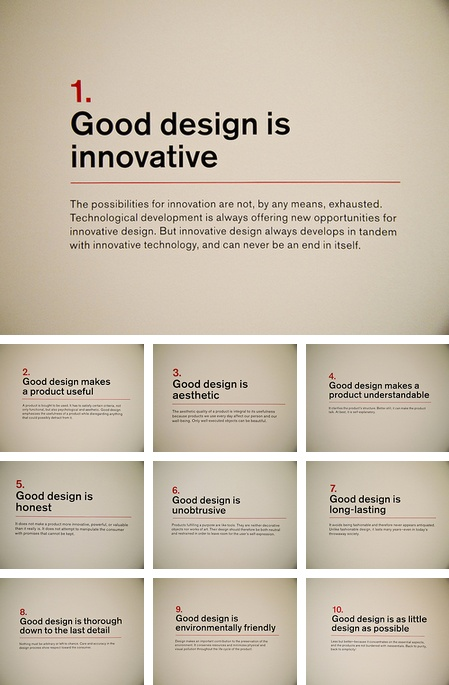 10 Principles of Design by Dieter Rams