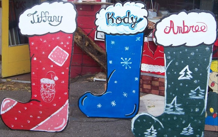 Personalized Christmas Stocking Yard Decorations from Alans ...