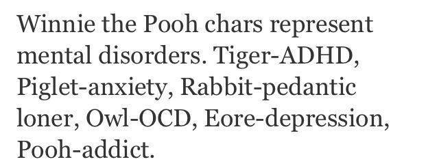 The pooh characters mental disorders winnie the pooh mental disorders