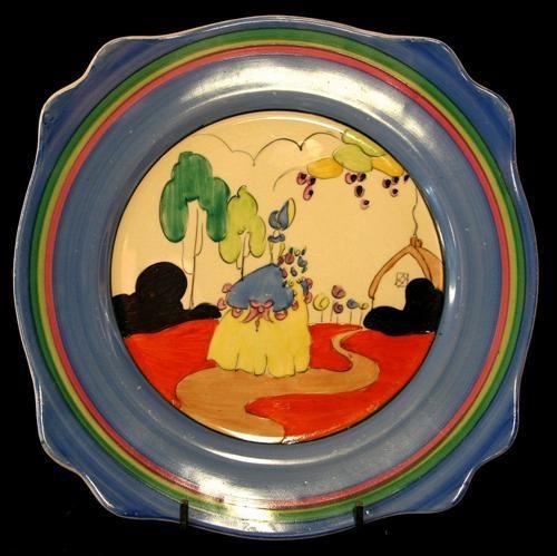 Clarice Cliff Bizarre plate