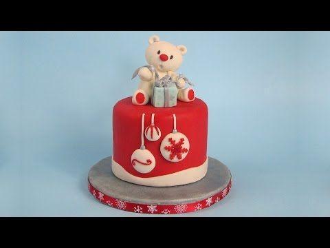 tutorial orsetto pasta di zucchero, cake design - YouTube