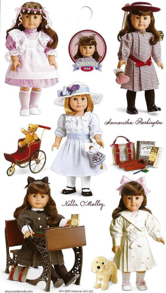 AMERICAN GIRL SAMANTHA~NELLIE STICKERS! PARTY FAVORS! #Unbranded