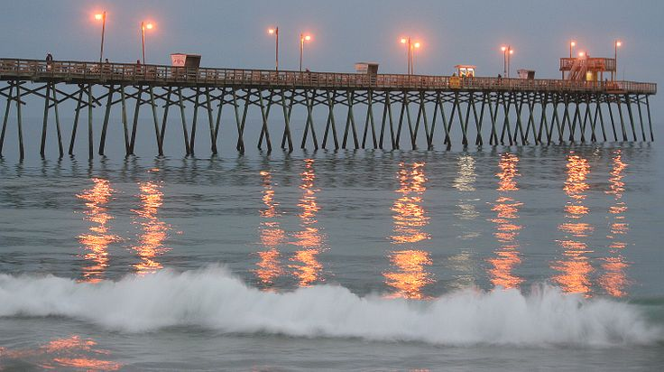 Bogue inlet fishing pier live cam for Galveston fishing pier report