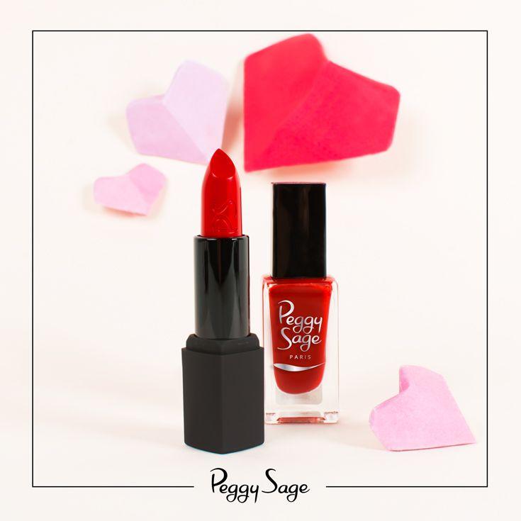 Le rouge Peggy Sage ! Le rouge ultime, fatal et sexy. La valeur sur pour la Saint Valentin. Découvrez le duo Rouge à lèvres et vernis Le rouge Peggy Sage.