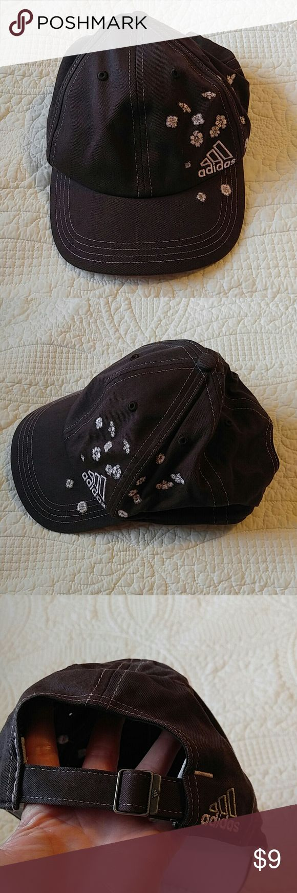 Adidas baseball cap hat Short bib pink flowers Needs cleaning adjustable adidas Accessories Hats