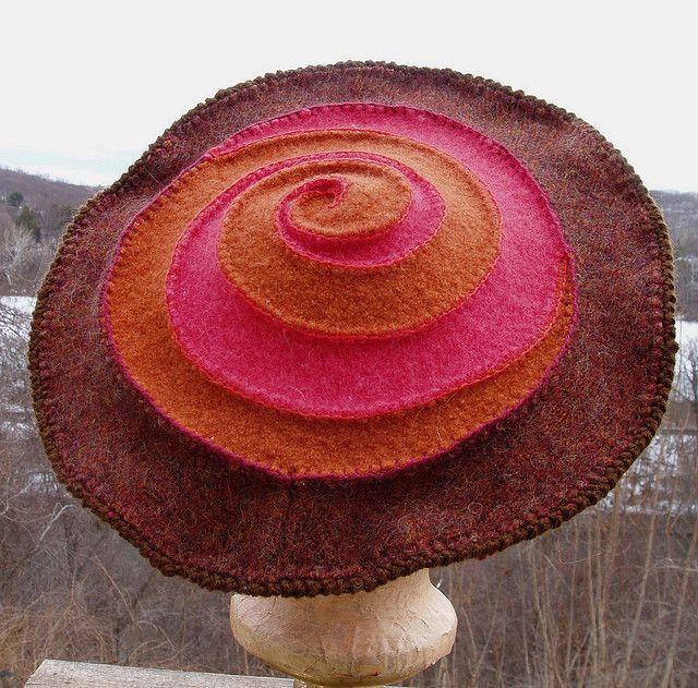 bovenkant van de hoed van hergebruikte truien