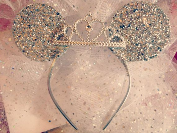 Disney Minnie Mouse Ears with tiara Sparkle Disney by tutufactory
