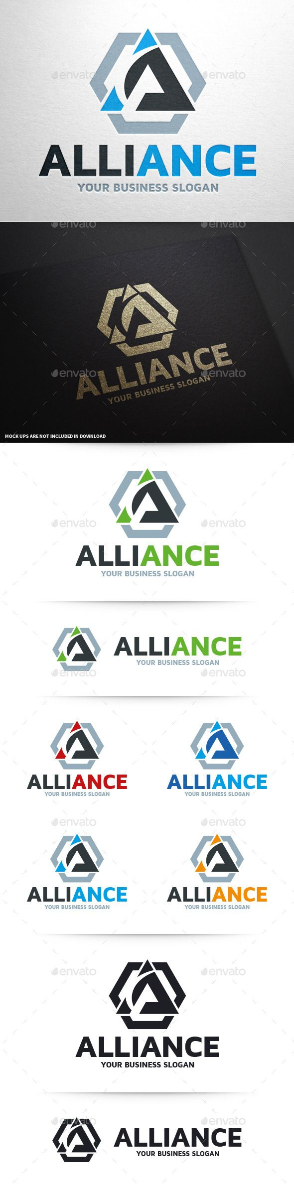 Alliance  Letter A Logo — Vector EPS #letter #web • Available here → https://graphicriver.net/item/alliance-letter-a-logo/10415690?ref=pxcr