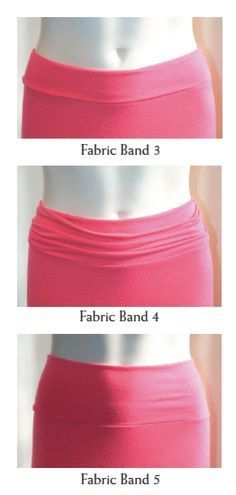 These bands are explained in detail in our Stretch Fabric Waistband download!