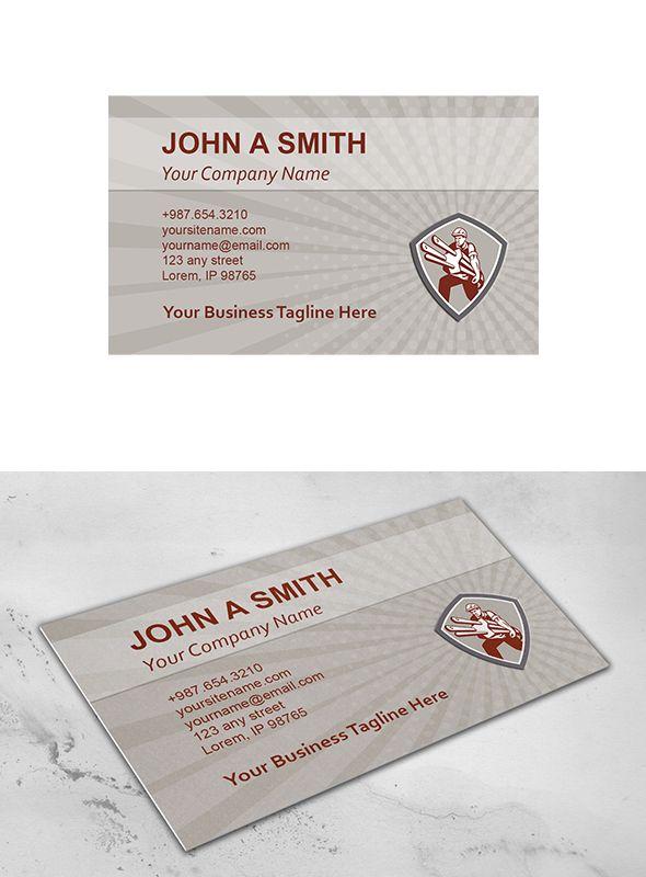 Business Card Template Electrician C