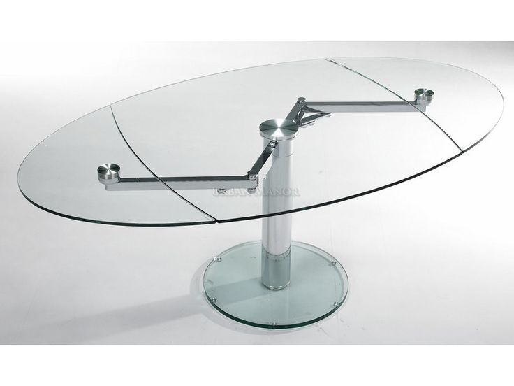 Intrepid extensible dining table the industrial feel of for Table verre extensible