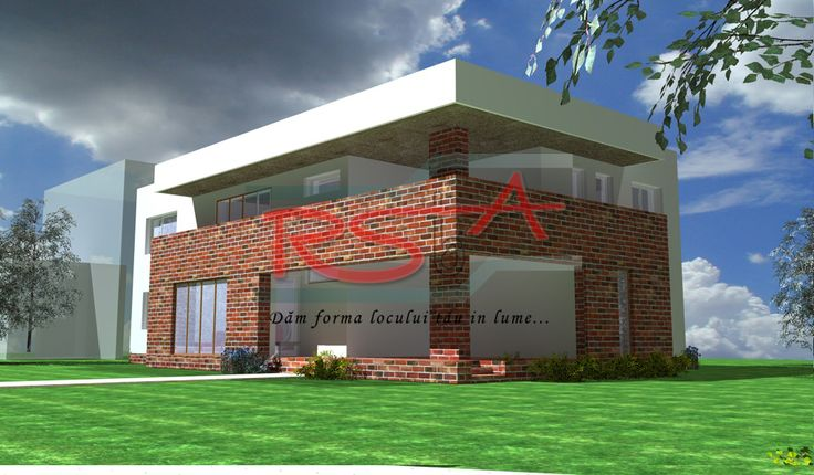 Casa cu etaj moderna in terasa | RSbA - Birou de arhitectura | http://rsba.ro
