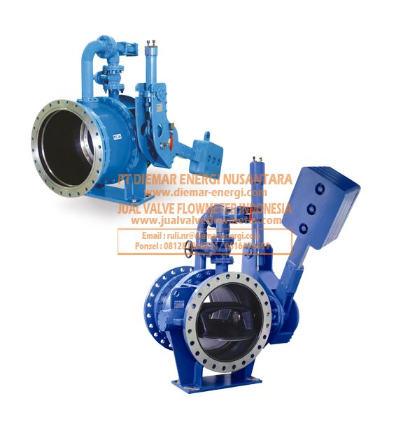 Bieccentric Butterfly Valve with Counterweight