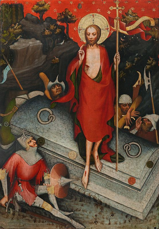 The Resurrection of Christ / La Resurrección de Cristo // After 1380 // Master of the Třeboň Altarpiece / Monastery of St. Agnes // National Gallery in Prague // #Jesus #Easter #Pascua