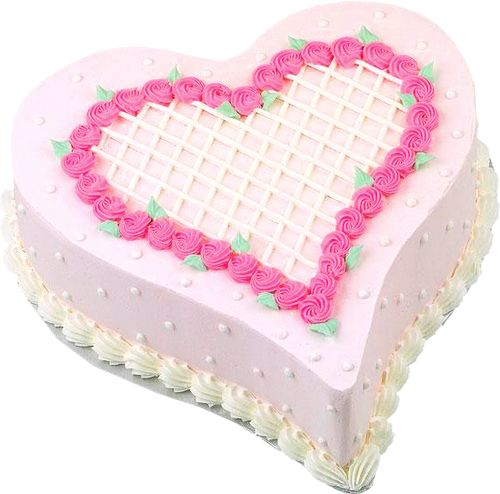 Pink Heart Cake PNG Picture Clipart