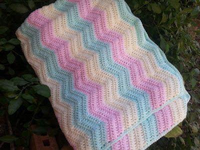 Silly Mimi @PoochieBaby: Wavy Ripple Crochet Blanket Project