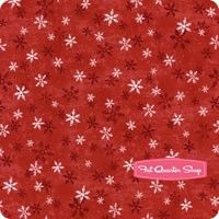 Home for the Holidays Red Snowflakes Yardage <br/>SKU