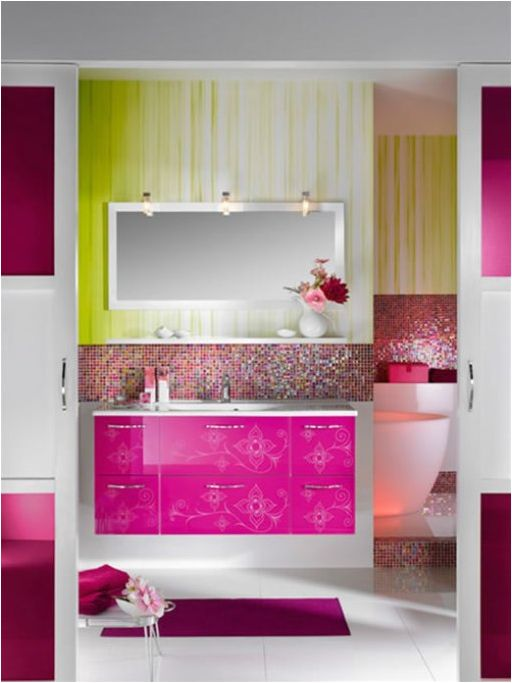 3 Ways To Add Neon To Your Bathroom + Inspirational Photos! Great Pictures