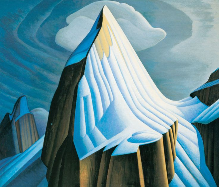 """""""Mount LeFroy"""" Poster in Decorative Frame by Lawren S. Harris  ~ Group of Seven 18.375"""" x 16"""""""