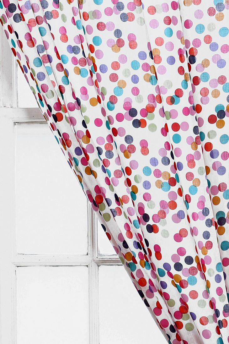 Shower curtains for girls - Plum Bow Confetti Curtain