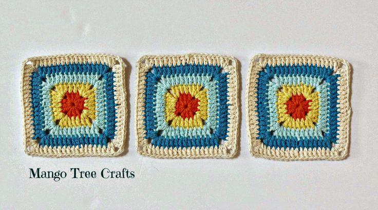 Mango Tree Crafts: Free Crochet Square Pattern