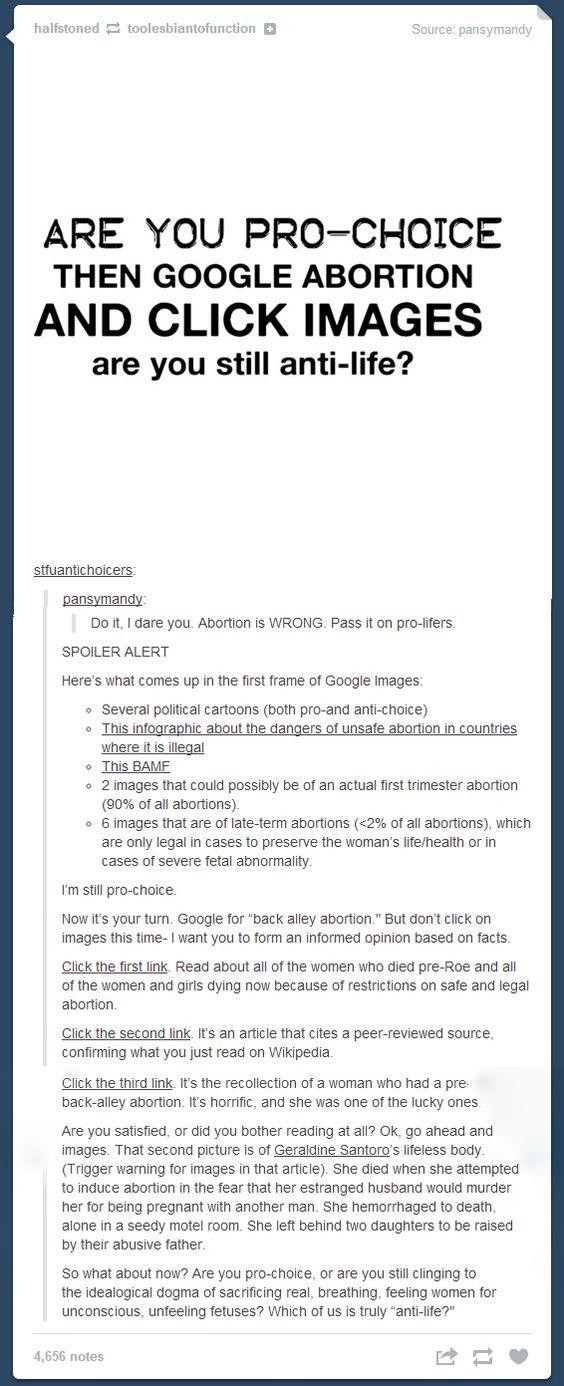 Google pro life pro choice