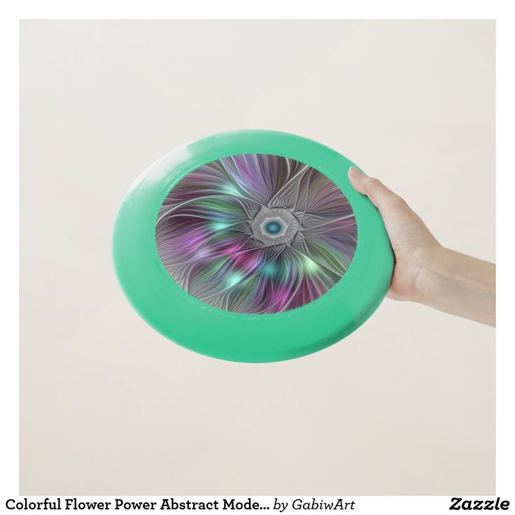 Colorful Flower Power Abstract Modern Fractal Art Wham-O Frisbee
