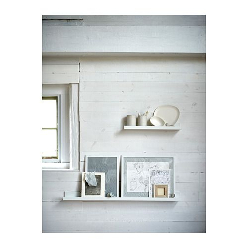 MOSSLANDA Picture ledge IKEA The picture ledge has a special groove to keep smaller frames at the perfect angle.