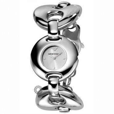 Γυναικείο fashion quartz ρολόι του οίκου EMPORIO ARMANI με ασημί καντράν σε στυλ βραχιολιού | Ρολόγια EMPORIO ARMANI ΤΣΑΛΔΑΡΗΣ στο Χαλάνδρι #Emporio #Armani #ατσαλι #μπρασελε #ρολοι