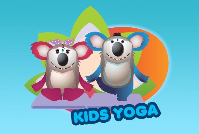 Kids Yoga Class Logo Design