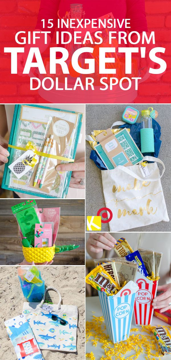 15 Inexpensive Gift Ideas From The Target Dollar Spot Gifts Diy Dollar Stores Inexpensive Graduation Gifts Dollar Store Gifts