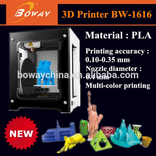 Tabletop personal PLA filament one button printing 3 d printer