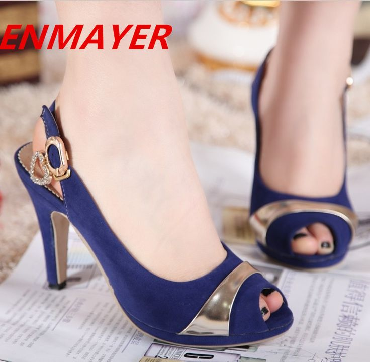 ENMAYER Size 34 43 Women Summer Shoes Back Strap 2014 New Open Toe high heel  sandals for women 2014 girls sandals wedding shoes-in Sandals from Shoes on Aliexpress.com | Alibaba Group
