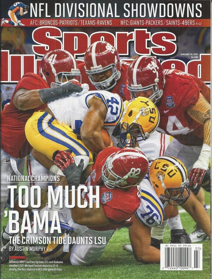 Sports Illustrated magazine BCS Championship Alabama NFL division showdowns