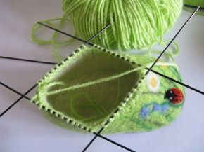 Handmade-courses, templates, tutorials: Felting wet-shoes