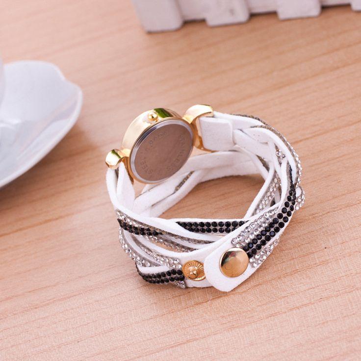 Weave Velvet Oval Bracelet Watch