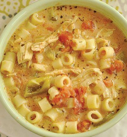 INGREDIENTS     ½ box pasta, I used Ditalini or a short macaroni type pasta   2 C shredded turkey or chicken   4 C chicken broth   ...