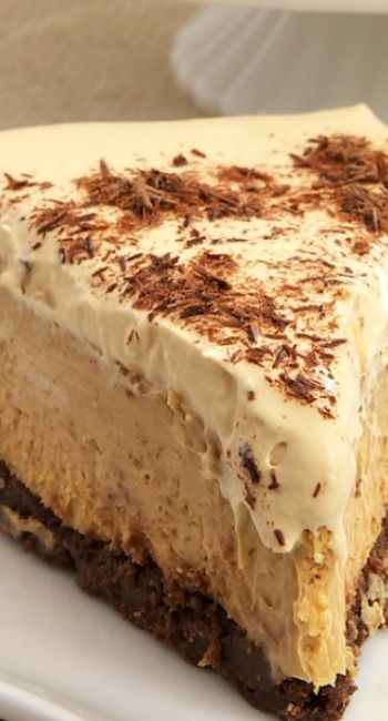 Dulce de Leche Cheesecake with Brownie Crust::
