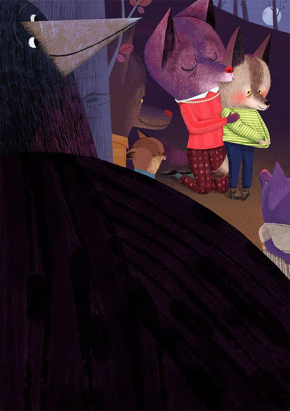 "Never alone - Illustrations for Children magazine ""Spazio"""