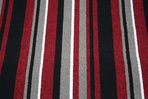 Details about red black stripe carpet quality berber any for Black and white berber carpet