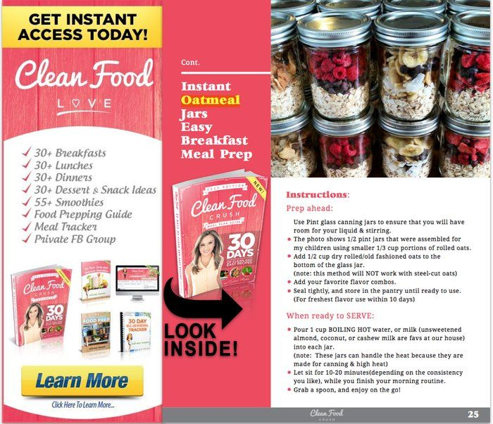 Instant Oatmeal Jars Clean Eating Recipes http://cleanfoodcrush.com/instant-oatmeal-jars/