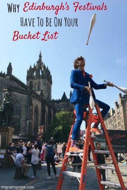 Why Edinburgh's Festivals Have To Be On Your Bucket List. Edinburgh in Summer. Edinburgh Festivals. Best Things to Do in Edinburgh. #edinburgh #scotland #festival #edinburghfestival #summer #europe