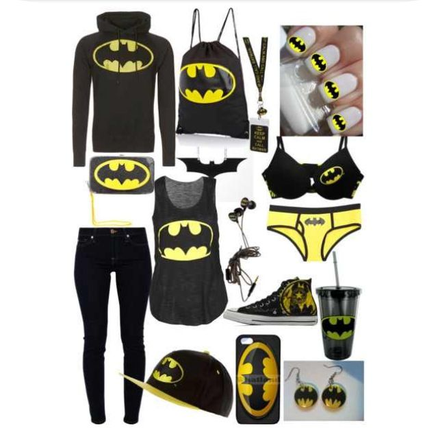 Well this would be good to get as a starter Batman outfit...  made on polyvore