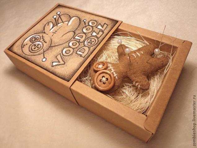Сувенирная куколка-вуду в подарочной коробке. - Ярмарка Мастеров - ручная работа, handmade