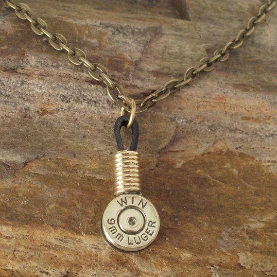 9mm Shell Casing Necklace Single Winchester by ShellsNStuff... @Kirsten Wehrenberg-Klee Wehrenberg-Klee Villegas